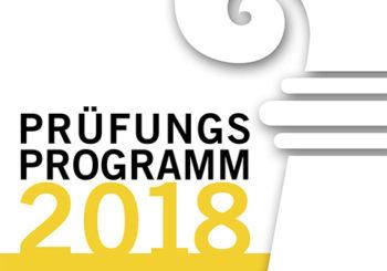 Prüfungsprogramm 2018 GID